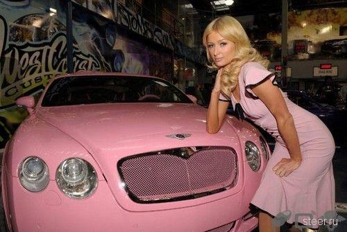 Апофеоз гламура: Розовый Bentley для Paris Hilton (фото)
