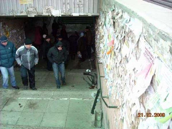 Джип въехал в подземный переход (фото)