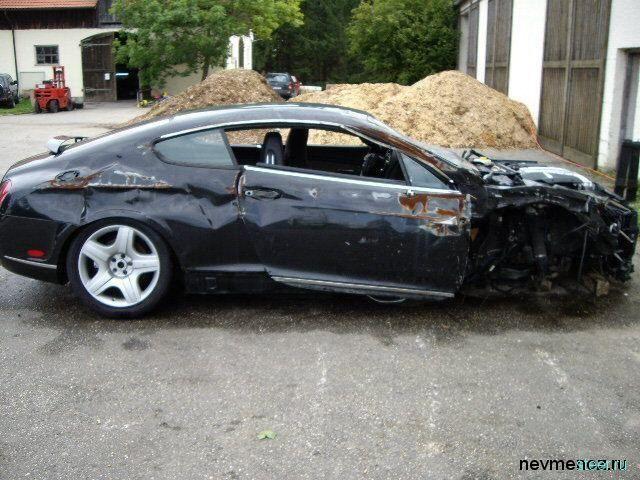 разбитые дорогие авто