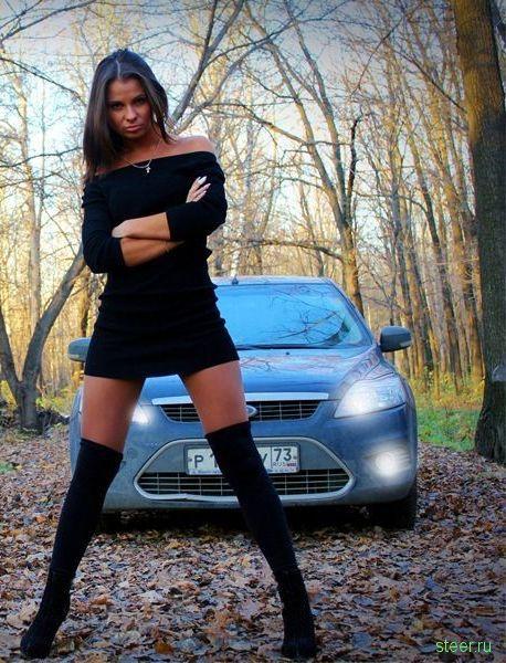 Российские красавицы и автомобили (фото)
