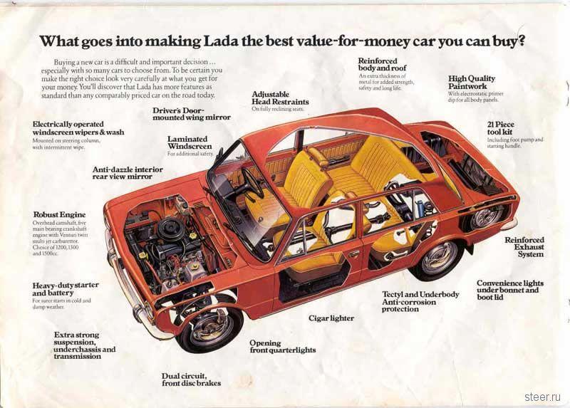 Рекламный буклет Lada (фото)