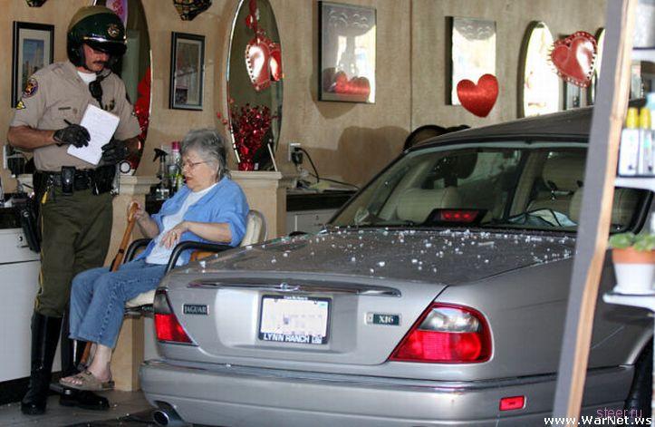 Съездила бабушка в салон красоты... (фото)