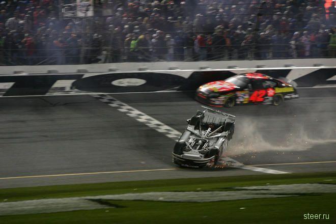 аварии на гонках nascar