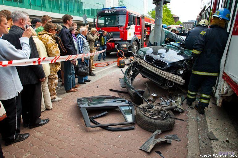Авария в центре Таллина (фото)