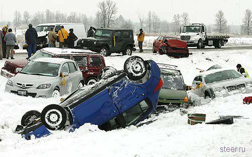 В Канаде выпал снег (фото)