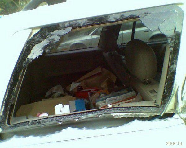Последствия столкновения с почтовым ящиком (фото)