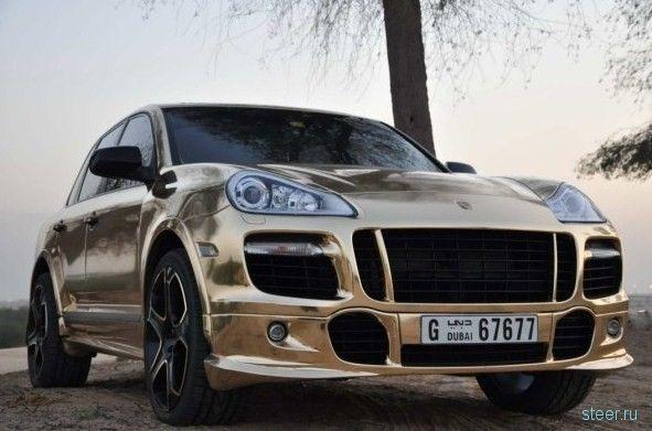 Первый золотой Porsche Cayenne (фото)