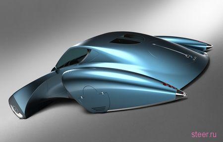 Футуристичный концепт Bugatti Stratos позаимствовал стиль ретромобилей (фото)