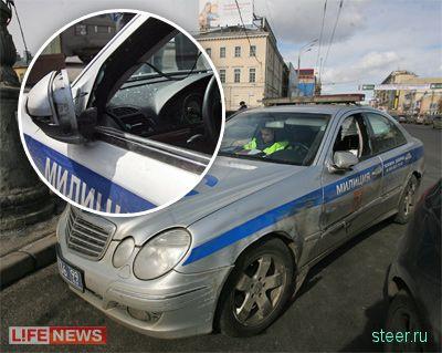 Audi TT врезалась в кортеж генпрокурора РФ (фото)