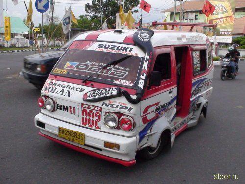 Тюнинг маршрутных такси в Индонезии (фото)