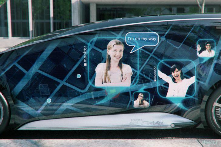Toyota Fun-Vii : весь кузов – дисплей (фото)