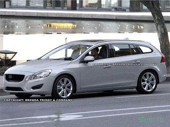 Шпионские фото нового универсала Volvo S60 без камуфляжа (фото)