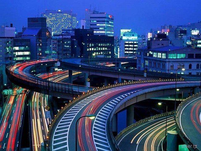 Дорожные развязки в Японии (фото)