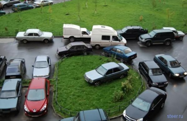 Месть за неправильную парковку (фото)