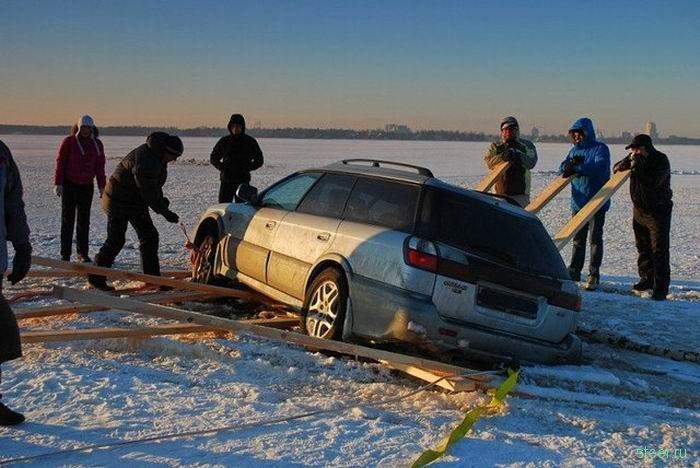 Результат ледовых покатушек (фото)