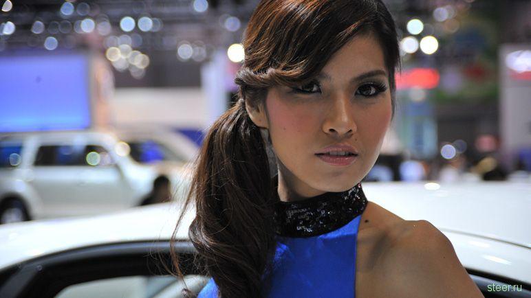Подборка девушек с международного автосалона в Бангкоке