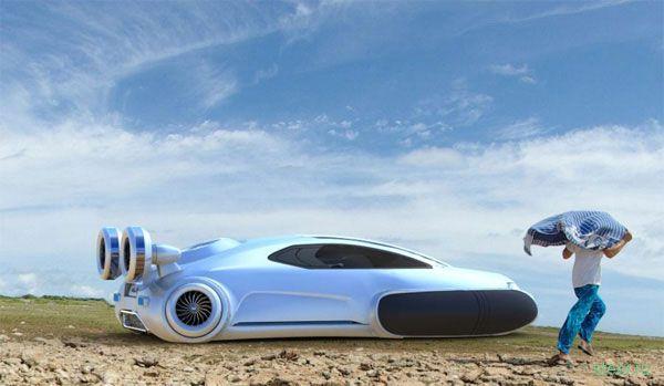 Volkswagen Aqua: Автомобиль на воздушной подушке (фото)