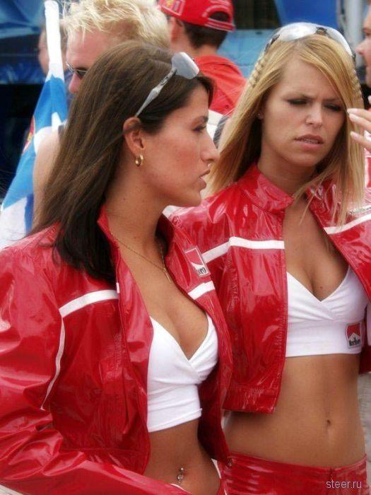 Девушки на автогонках (фото)