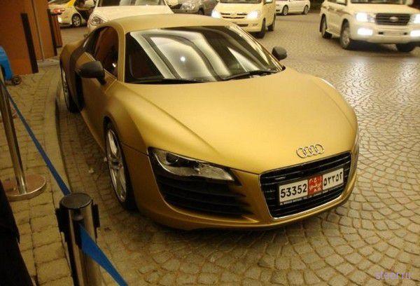Золотой тюнинг для дубайской Audi R8 (фото)