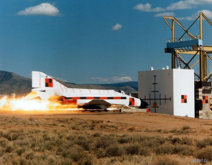 Краш-тест сверхзвукового шаттла (фото и видео)