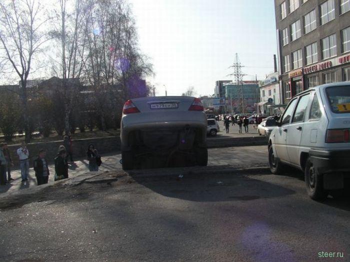 Парковала девушка машину... (фото)
